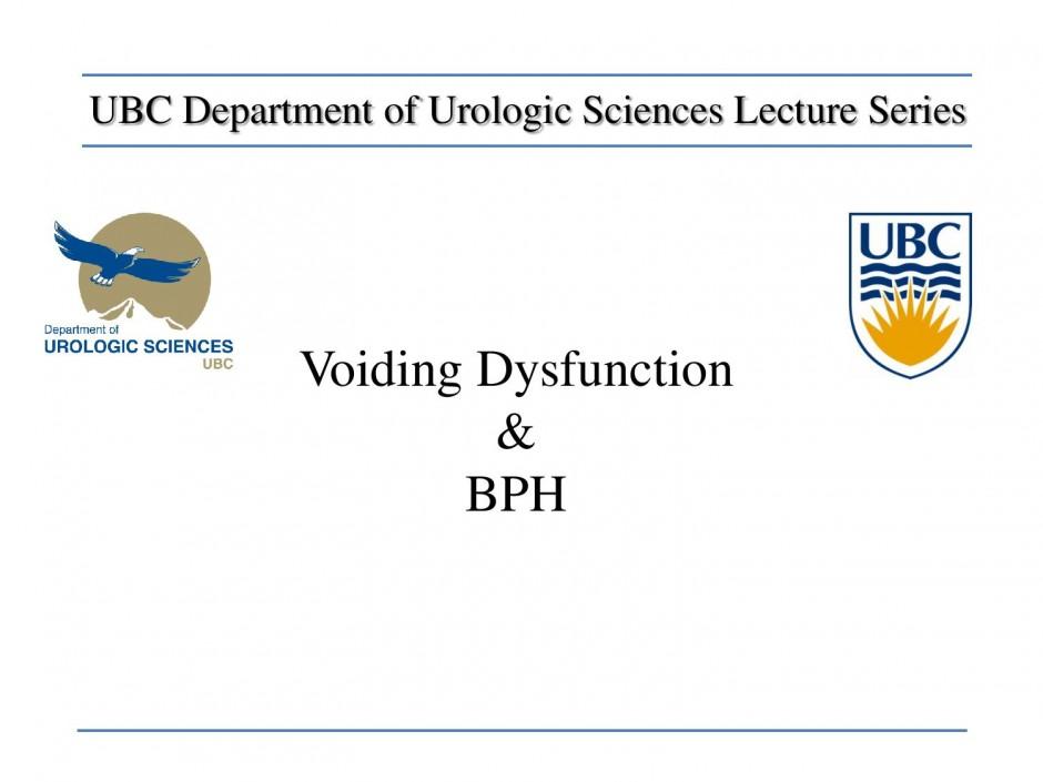 Voiding Dysfunction